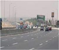 سيولة مرورية وانتظام حركة السيارات بطرق القليوبية السريعة
