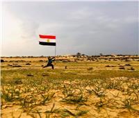 انتهى الإرهاب.. علم مصر يرفرف في قرية الظهيربشمال سيناء   صور