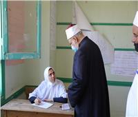وكيل الأزهر يتفقد لجان العاشر من رمضان في أول أيام امتحانات «الثانوية»| صور