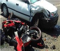 مصرع شقيقين في حادث تصادم دراجة بخارية بسيارة في أسيوط