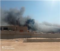 حريق يلتهم شركة سراج للكيماويات الحديثة بوادى النطرونوأصابة عاملين  فيديو