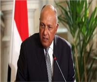 شكرى: مصر تجدد دعمها للسلطات الانتقالية في ليبيا