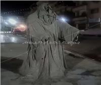 أرعب المواطنين.. إزالة «تمثال الشبح» من أحد شوارع الإسماعيلية