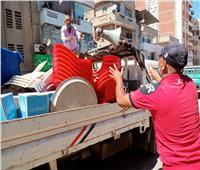 رفع ٥٦٤ حالة إشغال طريق بمركزي دمنهور وأبوحمص بالبحيرة
