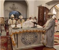 الأنبا يواقيم يترأس قداس عيد العنصرة بكنيسة العذراء مريم بإسنا جنوب الأقصر