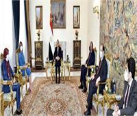 الرئيس السيسي يؤكد دعم مصر الكامل للمجلس الرئاسي وحكومة الوحدة الوطنية الليبية