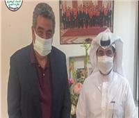 أحمد مجاهد يستقبل الأمين العام للاتحاد العربي لكرة القدم