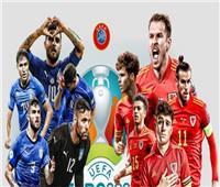 يورو 2020   انطلاق مباراة «إيطاليا وويلز» في ختام الجولة الثالثة