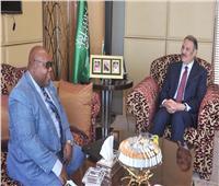 سفير السعوديةلدى مصر يلتقي بسفير بوروندي