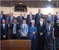 صور.. العاملون بمحكمة استئناف القاهرة يكرمون المستشار أحمد الأودن