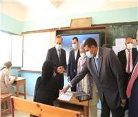 الطلاب يؤدون امتحان الثانوية العامة التجريبي بكفر الشيخ