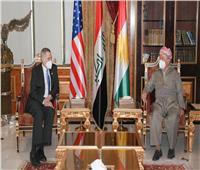 «بارزاني وقادة كردستان» يناقشون مع السفير الأمريكي أمن العراق والعملية السياسية