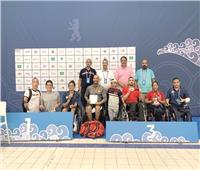 5 ميداليات متنوعة لمنتخب السباحة البارالمبى فى بطولة العالم