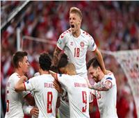 يورو2020  الشوط الأول .. الدنمارك يُحيى آماله بهدف فى شباك روسيا