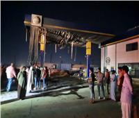 إصابة 3 عمال في حريق هائل بمحطة وقود بالشرقية