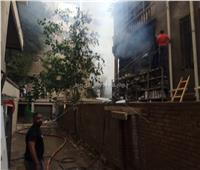 المعاينة الأولية لأسباب حريق مبنى أرشيف مجلس الدولة.. ماس كهربائي