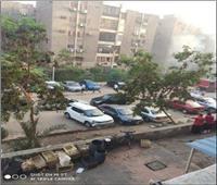 حريق هائل بعقار في مدينة نصر.. صور