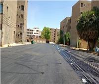 رصف حي المساكن في قنا