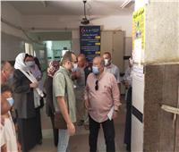 لجان المرور تتفقد إجراءات مواجهة كورونا بمستشفى بسيون بالغربية