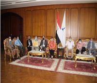 رئيس جامعة كفرالشيخ يستقبل اللجنة العلمية الدائمة للآثار المصرية