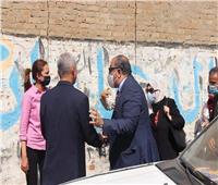 جولة تفقدية لنائبي محافظ الجيزة وجامعة حلوان بقرية الأقواز | صور