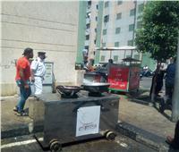 حملة لمحافظ القاهرة  لإزالة الإشغالات بمساكن المحروسة بمدينة السلام