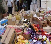 إحباط ترويج 32 طن أغذية فاسدة و200 ألف قطعة مستلزمات إنتاج مجهولة