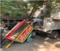 حملات على المقاهي والمحال والباعة بالدقي والعجوزة والهرم
