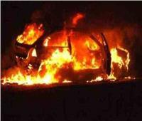 حريق بسيارة شركة محمول بالشرقية