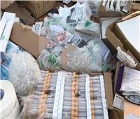 ضبط 14 ألف قطعة مستلزمات طبية مجهولة المصدر بالإسكندرية