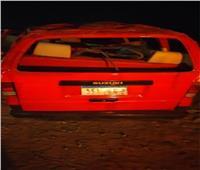 ننشر أسماء 11 مصاباً في حادث انقلاب سيارة بطريق السويس_ القاهرة