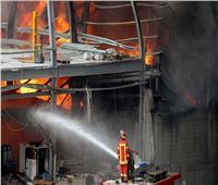 اندلاع حريق في مستودع للمواد الكيميائية في محافظة إربد بالأردن