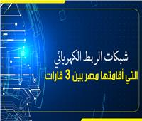 إنفوجراف   شبكات الربط الكهربائي التي أقامتها مصر بين 3 قارات