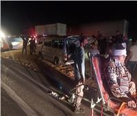إصابة 5 أشخاص في انقلاب سيارة ميكروباص في السويس