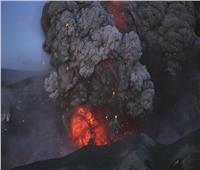 حريق في بحر قزوين بسبب ثوران بركاني طيني