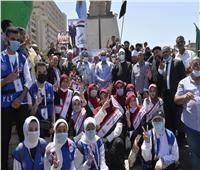 محافظ أسيوط يشارك احتفال الشباب والرياضة بثورة 30 يونيو بمسيرة شبابية ونيلية