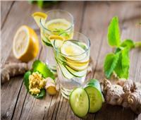 طريقة تحضير عصير الليمون بالنعناع والزنجبيل البارد