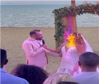 زفاف عمرو سلامة ومروة البرماوي علي الشاطئ   صور