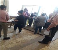 انتظام طلاب الثانوية العامة بلجان الامتحانات في سوهاج