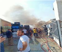 إصابة ٦ عمال في حريق هائل بمصنع للغزل والنسيج بالعاشر