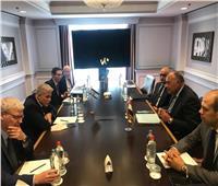 وزير الخارجية يلتقي نظيره الإسرائيلي لبحث مستجدات القضية الفلسطينية