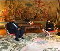 وزير الخارجية يلتقي نائبة رئيس الوزراء البلجيكي لبحث العلاقات الثنائية