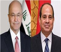 الرئيس السيسي يعزي نظيره العراقي في ضحايا حريق مستشفى الحسين التعليمي
