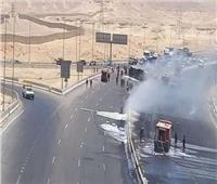 التفاصيل الكاملة لحريق الأوتوستراد جنوب القاهرة
