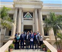 جامعة بنها تستقبل وفد وحدة إدارة المشروعات بوزارة التعليم العالى