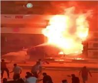 الأهالي تساعد في إخماد حريق ضخم بالطالبية