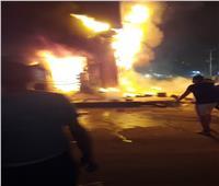 قبل وصول الحماية المدنية.. الأهالي فشلت في التعامل مع نيران حريق الطالبية