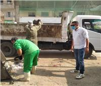 رئيس مدينة السنطة يتابع أعمال النظافة بالمدينة وإزالة تجمعات القمامة