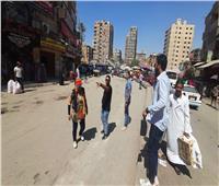 لليوم الرابع على التوالي استمرار حملة إشغالات حي بولاق الدكرور بشارع ناهيا  صور