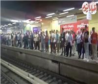 توقف حركة القطارات بمترو الاتفاق نتيجة عطل كهربائي| فيديو